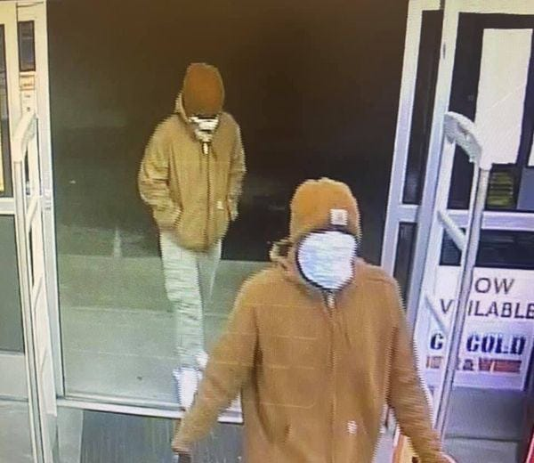 The ATF is seeking help in identifying three men pictured here from various surveillance cameras. The men have been robbing Eastern North Carolina businesses since late December.