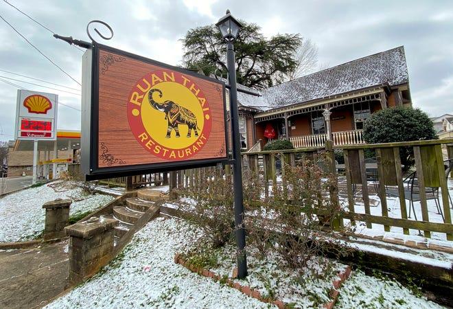 The Ruan Thai restaurant is seen Tuesday, Feb. 16, 2021. [Staff Photo/Gary Cosby Jr.]