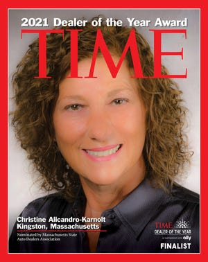 Marty's Buick GMC owner Christine Alicandro-Karnolt covers Time's 2021 Dealer of the Year Award as one of four finalists.