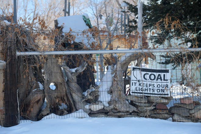 Signs can be found throughout the Craig, Colorado, community showing support for the coal industry. This sign is pictured Jan. 9 at a home along Colorado Street.