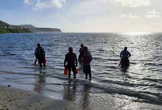 Guam Fire Department launched a rescue effort on Feb. 15, 2021 afternoon after a 53-year-old man was reported missing at Pago Bay.