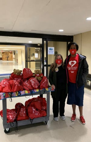 Treasure Thaxton and her family delivered this year's shipment of Treasure's Love Bears to Jackson-Madison County General Hospital last week.