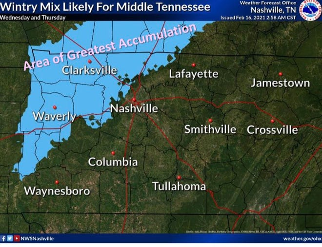 Screenshot from the National Weather Service.