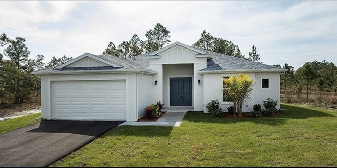 The Orquidea is a spacious four-bedroom, two-bath great room plan, one of the popular designs offered at Arrowhead Reserve in Immokalee.