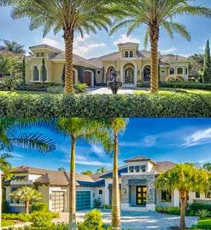 Gulfshore Homes transformed a Mediterra home, built in 2005, (Top) from a Mediterranean-styled home into a transitional, more contemporary-style home. (Bottom)
