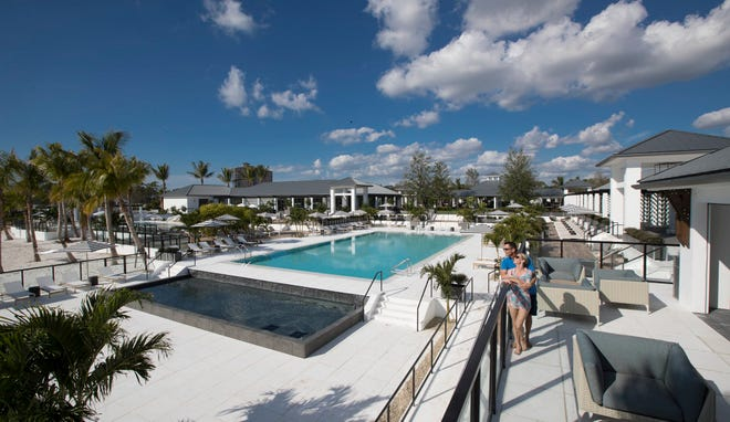Kalea Bay's main amenity area measures 88,000 square feet and includes three pools and an open-air bar.