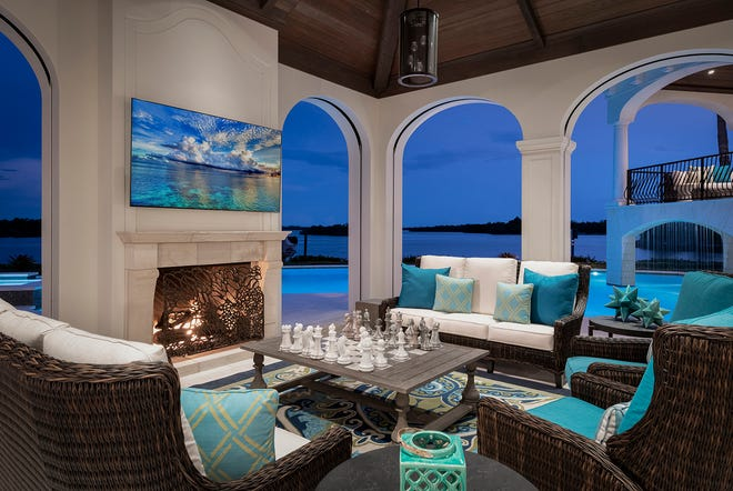 Jinx McDonald Interior Designs recently completed the renovations on an 11,000 square foot home in Port Royal, earning the company a CBIA Sand Dollar Award.