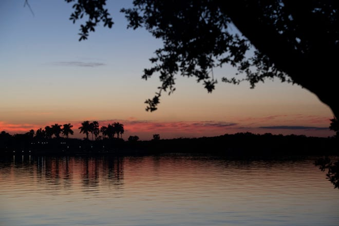 The Indian River Lagoon seen from Riverside Park in Vero Beach.