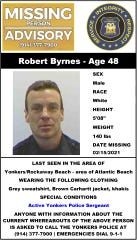 Yonkers police are looking for Robert Byrnes, a police sergeant who went missing.