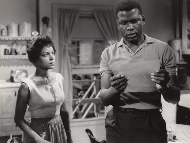 """Ruby Dee and Sidney Poitier star in the 1961 classic """"A Raisin in the Sun,"""" based on the Lorraine Hansberry play."""
