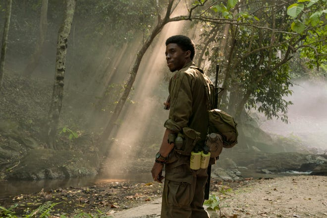 "Chadwick Boseman stars as squad leader Stormin' Norman in Spike Lee's Vietnam war film ""Da 5 Bloods."""