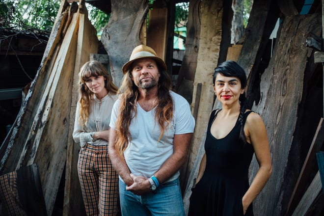 Thor Harris (center), pictured with his band Thor and Friends, is an accomplished carpenter who worked as a plumber's assistant to pay his way through college.