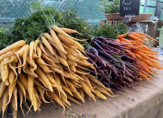 When the Athens Farmers Market opens March 6, buyers can expect to find root crops like these carrots.