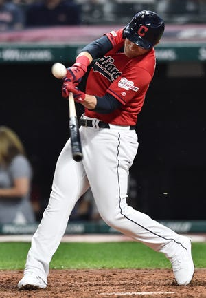 First baseman Jake Bauers was traded from Cleveland to the Seattle Mariners for a player to be named later or cash on Thursday. [USA TODAY Network]