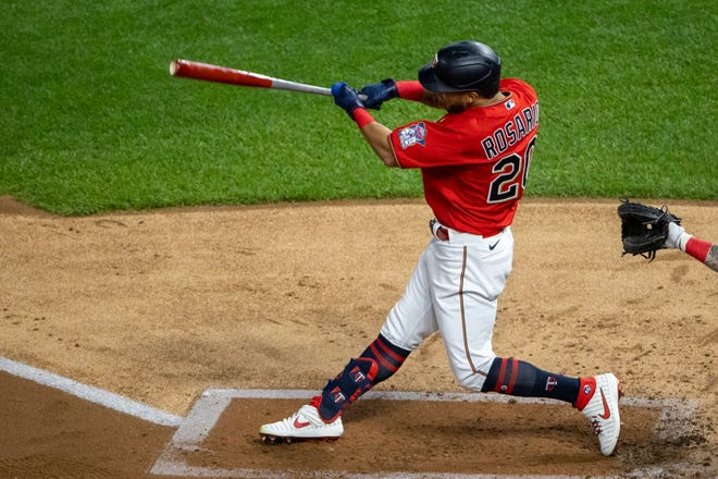 Cleveland free-agent outfielder Eddie Rosario is happy to be playing in Progressive Field and his new team is happy to no longer have to face him. [USA TODAY Network]