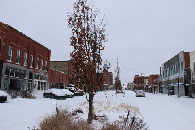The Ardmore area received an estimated additional five inches of snow Wednesday, keeping first responders very busy.