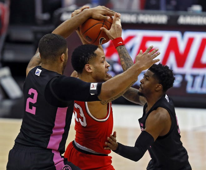 Penn State's smothering defense made life difficult at times for guard CJ Walker and his Ohio State teammates in the teams' first meeting, an 83-79 OSU win on Jan. 27.
