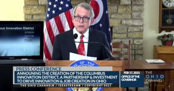 Gov. Mike DeWine announces the Columbus Innovation District.