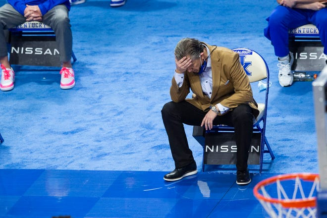 With a 6-13 record entering a game against Vanderbilt on Wednesday, Kentucky and beleaguered coach John Calipari may be headed to its first losing season since the Wildcats were 13-19 in 1988-89.