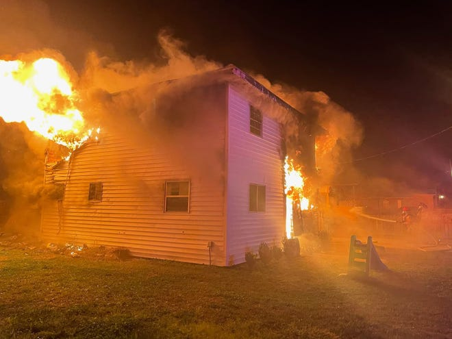 Lafourche Fire District 3 in Galliano was called out around 8:30 p.m. to battle a blaze that tore through a two-story home on West 221st Street.