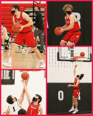North Pocono's Damarco Maglio (top left) Billy Pabst (top right), Ryan Ruddy (bottom left) and Chris Walsh (bottom right) contributed some significant minutes to the Trojans past four games. Currently 11-2 in the Lackawanna League, they head into the final stretch of the regular season beginning Friday against Honesdale.