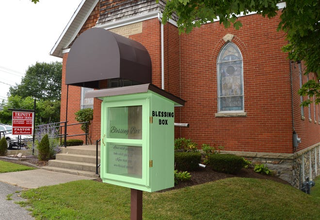 A Blessing Box is located near Trinity Lutheran Church, 4950 N. Main St., McKean. Anyone is welcome to put or take nonperishable food items, hygiene items and even hats, scarves and mittens.