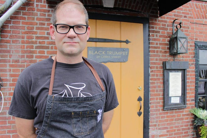 Evan Mallett, owner and chef of the Black Trumpet in Portsmouth.