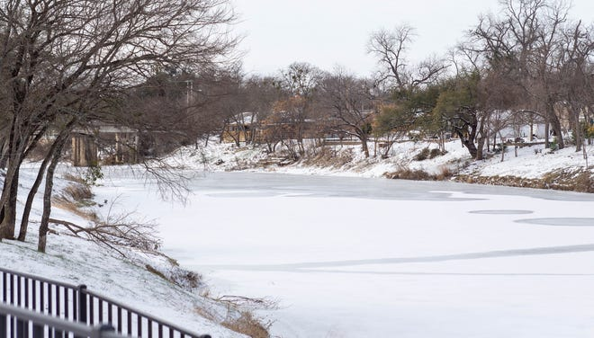 The temps in Glen Rose that dove as low a minus-2 froze the Paluxy River earlier in the week.