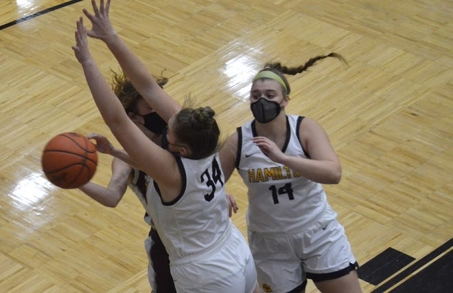 The Hamilton girls basketball team hosted Holland Christian on Tuesday, Feb. 16.