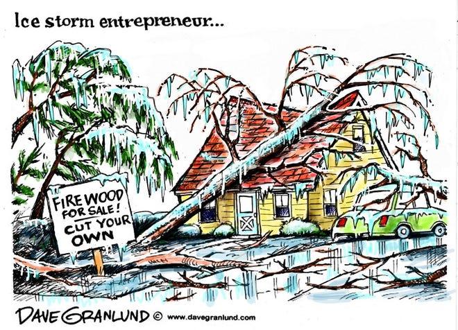Dave Granlund cartoon on Winter Storm Uri.