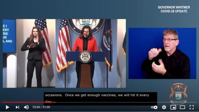 Feb. 17 press conference with Gov. Gretchen Whitmer