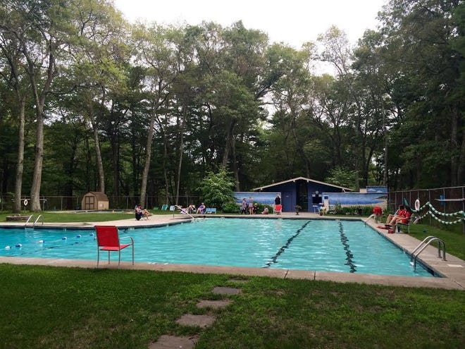 The pool at the Belknap Pool and Tennis Club
