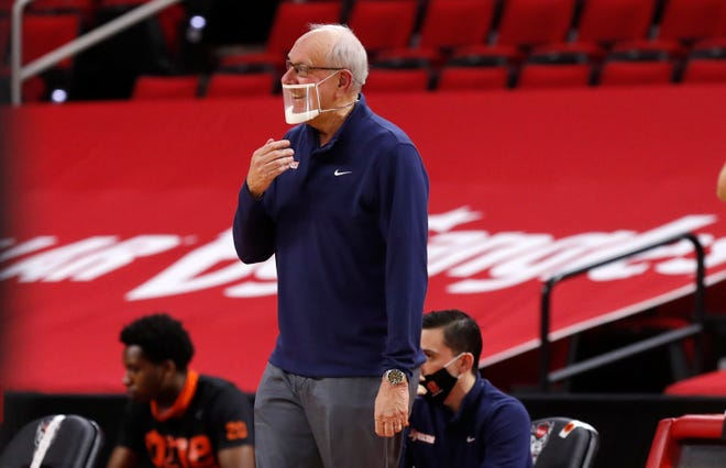 Syracuse head coach Jim Boeheim is not pleased with the call during a recent game against North Carolina State. Syracuse had its game Wednesday against Louisville postponed.
