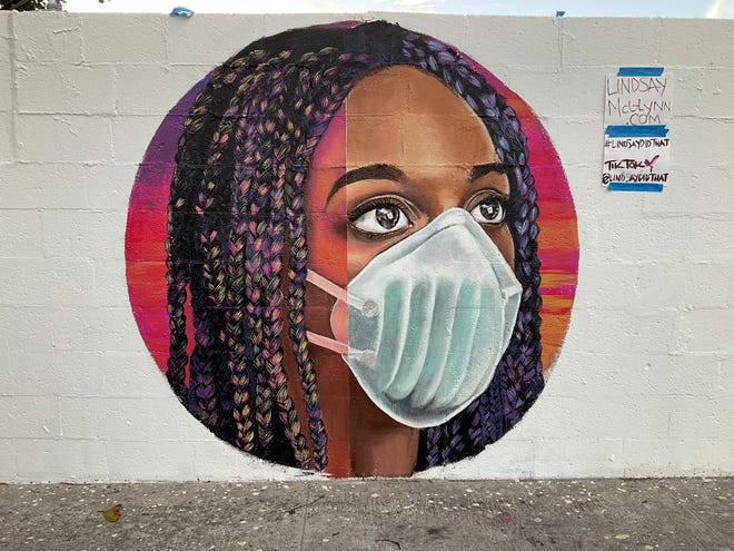 Lake Worth Beach artist Lindsay McGlynn will complete work on her project at the city's Unity Wall on Wingfield Street as part of this weekend's virtual Street Painting Festival.