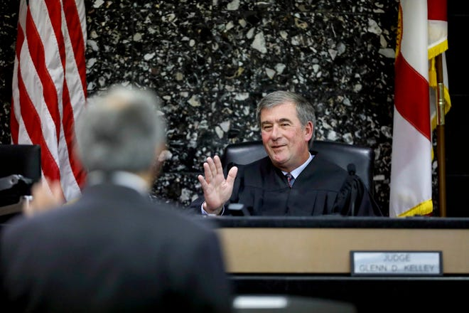 Palm Beach County Circuit Judge Glenn Kelley discusses how best to proceed on the many lawsuits surrounding the Palm Harbor Marina in West Palm Beach on Friday, Dec. 6, 2019, at the Palm Beach County Courthouse in West Palm Beach. [BRUCE R. BENNETT/palmbeachpost.com]