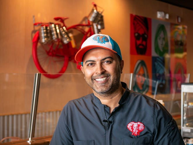 Anesh Bodasing owns Tiffin Box, a West Palm Beach concept that offers fast-casual Indian food. He will open a vendor stall at the upcoming Delray Beach Market food hall. WILKINE BRUTUS/PALM BEACH POST