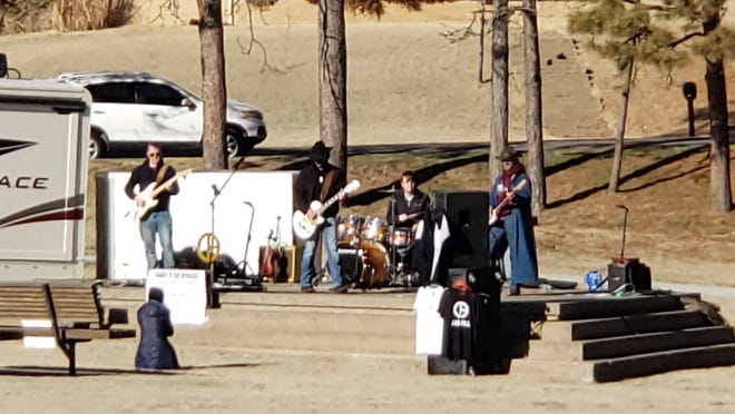 "Jack Ewing Park in Pratt is a stage for all kinds of performances, like this outdoor Jake Gill concert earlier this month, and  ""Back in Pratt"" planners are working to put together fun family concerts and events for an October 2021 community festival at this location and others around town."