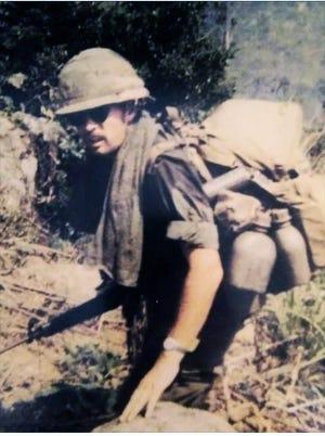 Bill Babcock as a platoon leader in Vietnam, spring 1970.