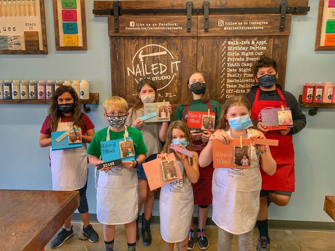 In addition to activities for adults, Nailed It DIY Studio, in Sarasota, offers birthday parties and camps for kids.