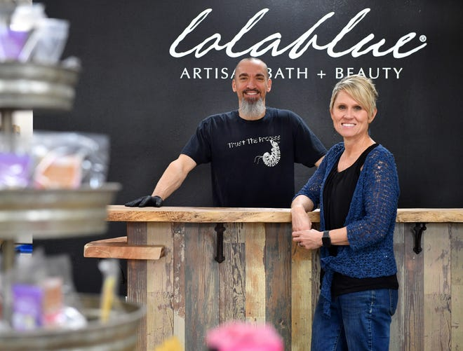 D.J. and Jamie Lovern run Lolablue Artisan Bath + Beauty, a North Port, Florida maker of artisanal soaps, deodorants and fragrances. Their soap product line was recently picked up by all the Florida Whole Foods stores.