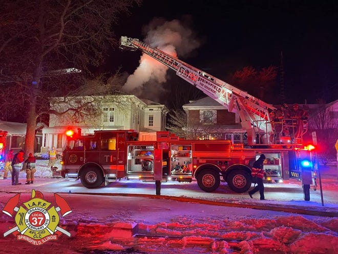 Springfield firefighters responded to a house fire in the 800 block of South English Avenue Wednesday morning. [Springfield Fire Department]