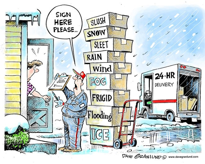 Granlund cartoon: Weather delivery