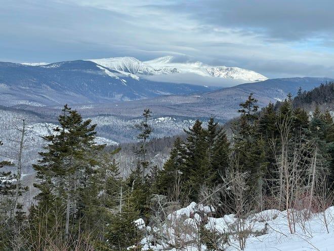 Mount Washington from the summit of Black Mountain in Jackson, New Hampshire.