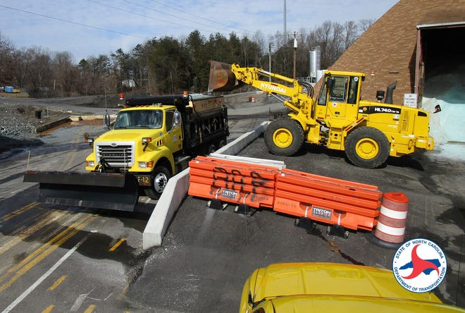 Crews from the N.C. Department of Transportation were preparing Wednesday for Thursday's icy weather.