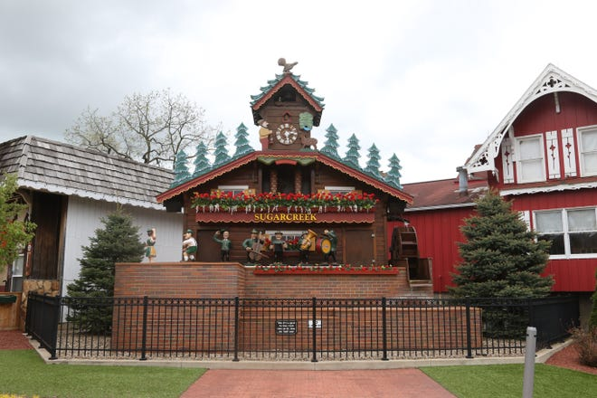 The Worlds Largest Cuckoo clock is a big attraction in Sugarcreek.