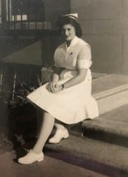 Faye Berzon began her nursing career during World War II after only three months of training.