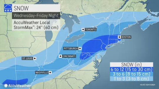 Forecasters from AccuWeather predict anywhere from 6 inches to a foot of snow to drop across most of northern and central New Jersey.