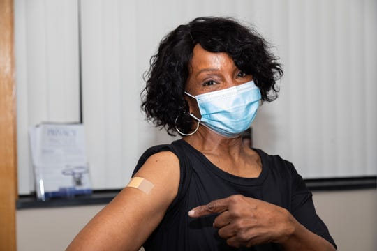 Singer Gladys Knight, who lives in Fairview, N.C., with her husband, William McDowell, received her COVID-19 vaccine in Haywood County and encouraged people in underserved communities to get immunized at a free clinic in Canton.