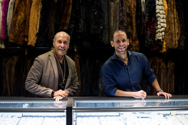 American Jewelry and Loan President Les Gold, left, and his son and vice president of American Jewelry and Loan, Seth Gold, on Feb. 1, 2018 at American Jewelry and Loan in Detroit.