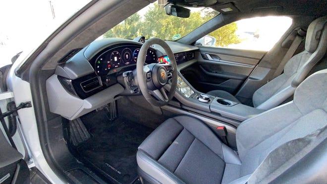 Front seat of 2021 Porsche Taycan RWD
